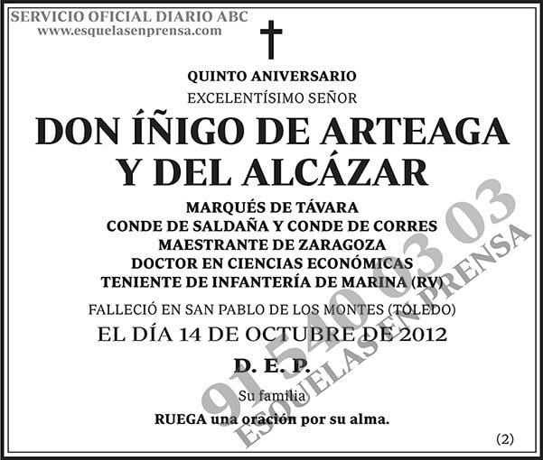 Íñigo de Arteaga y del Alcázar